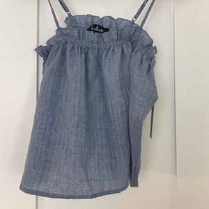 Lulus Off the Shoulder Blue Top Size Small